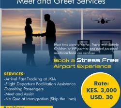 VIP Services meet and assist for Jomo Kenyatta International Airport (NBO)